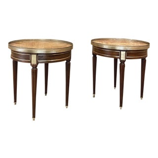 19th Century French Neoclassical Marble Top End Tables - a Pair For Sale