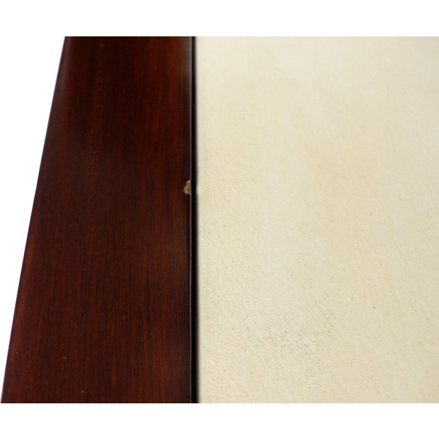 Williams & Sonoma Home Mahogany & Parchment Side Table For Sale - Image 10 of 11