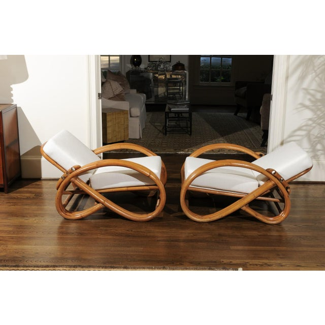 Pair of 1950s Restored Pretzel Loungers For Sale - Image 9 of 13