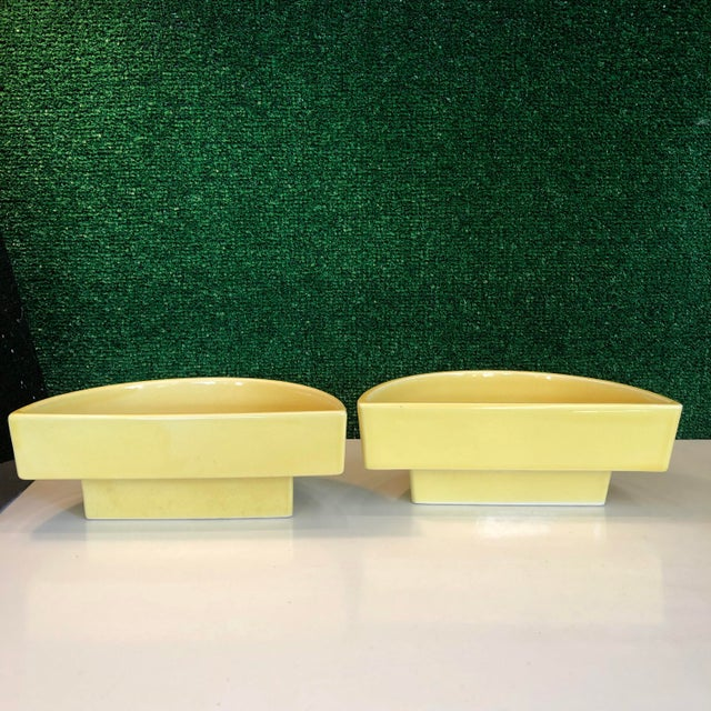 Yellow Ikebana Planters, Pair For Sale In Richmond - Image 6 of 8