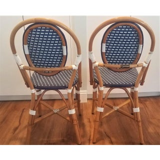 1990s Vintage French Rattan Bistro Chairs - a Pair Preview