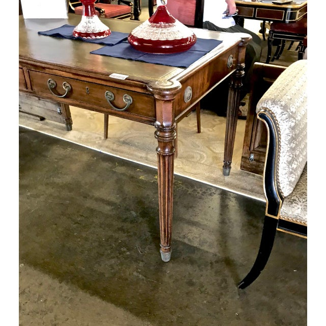 1810s English Regency Partners Writing Table For Sale - Image 4 of 13