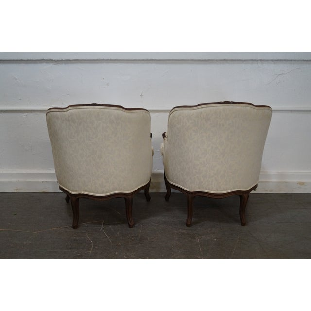 Antique French Louis XV Style Bergere Chairs - Pair - Image 4 of 10