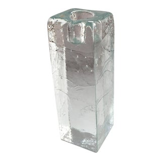 Blenko Solid Glass Candle Holder For Sale