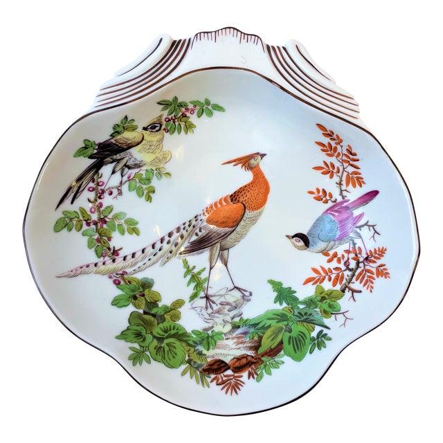 Vintage Mottahedeh Chelsea Bird Shell Bowl For Sale