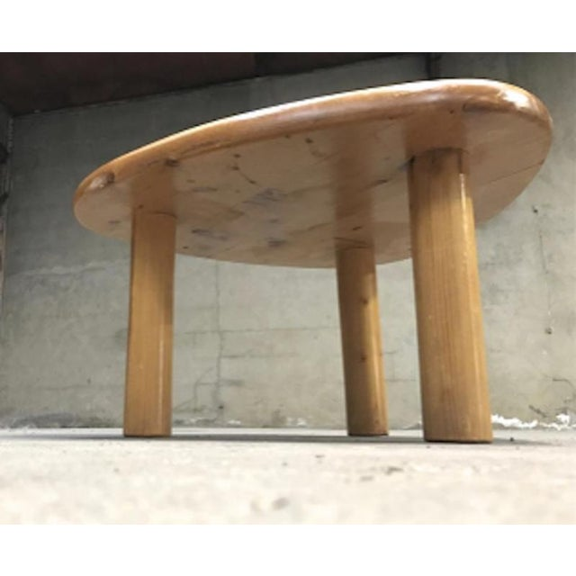 1950s Charlotte Perriand for Meribel Tripod Pine Coffee Table For Sale - Image 5 of 6