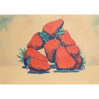 Aaron Fink - Strawberries Lithograph For Sale