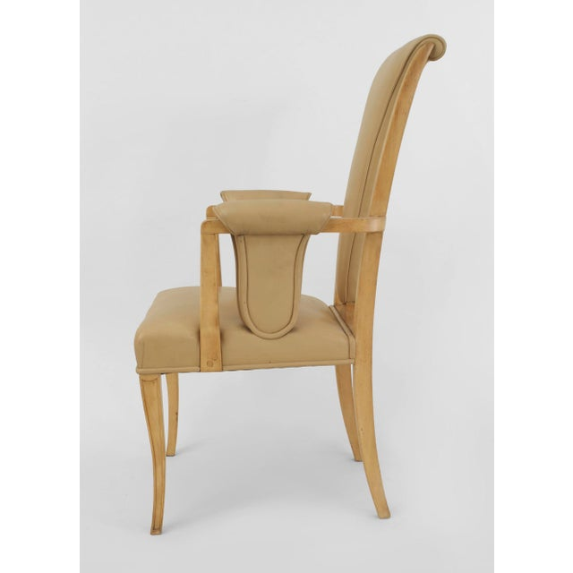 1940s English Art Deco Maple High Back Dining Chairs- Set of 8 For Sale - Image 5 of 7
