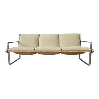 Hannah & Morrison for Knoll Aluminum Frame Three-Seat Sling Sofa, 1971 For Sale