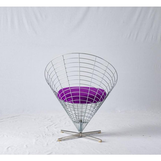 "Verner Panton ""Wire Cone"" Chair For Sale In Los Angeles - Image 6 of 11"