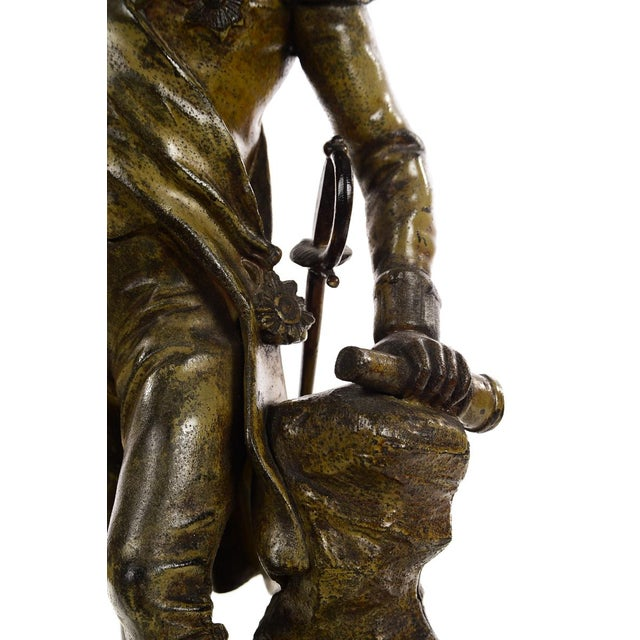 English Traditional 19th century Admiral Lord Nelson Metal sculpture For Sale - Image 3 of 9