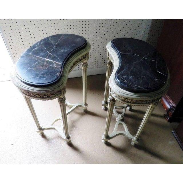 Pair of Petite Demilune Consoles For Sale In Philadelphia - Image 6 of 12