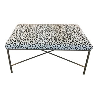 Kravet Couture Velvet Upholstered Bench For Sale