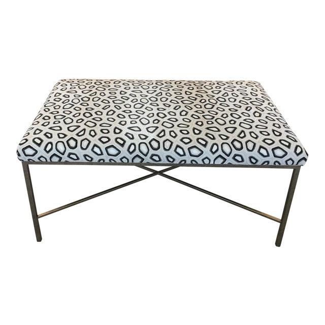 Kravet Couture Velvet Upholstered Bench For Sale