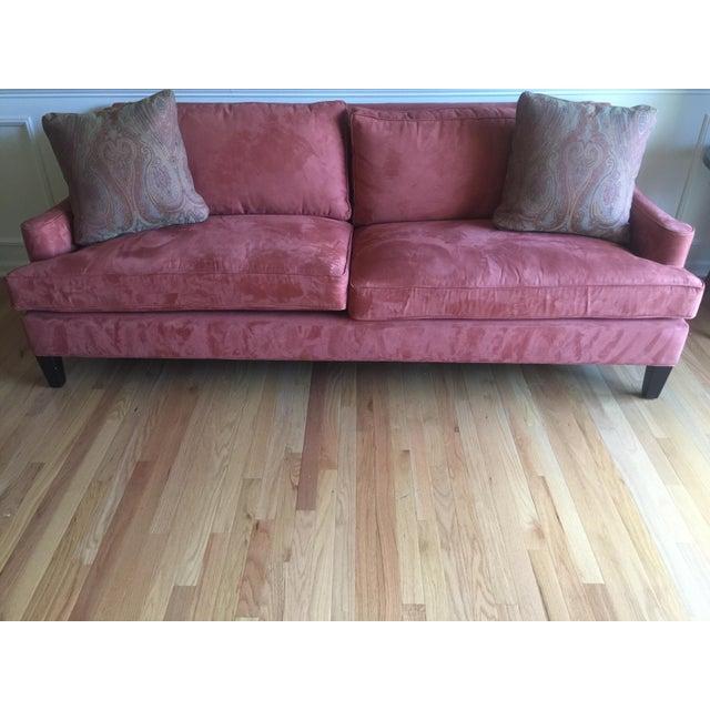 Arhaus Burnt Orange Velvet Sofa - Image 3 of 7