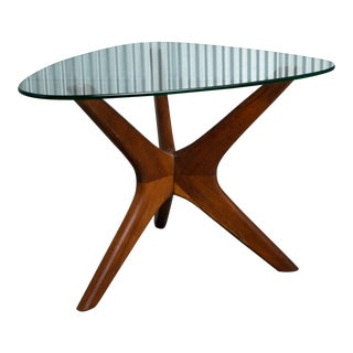 """1960s Adrian Pearsall Walnut """"Jacks"""" Side Table For Sale"""