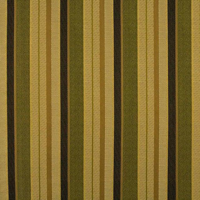 Suzanne Tucker Home Sample, Suzanne Tucker Home Fleur De Plume Stripe in Peridot For Sale - Image 4 of 4