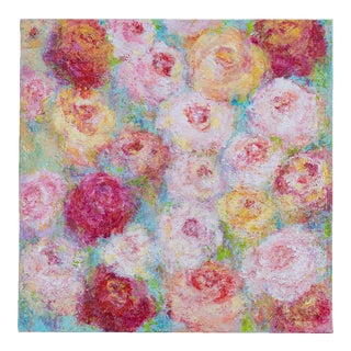 """""""Roses for Spring"""", Original Mixed Media Painting, Artist Sheema Muneer For Sale"""