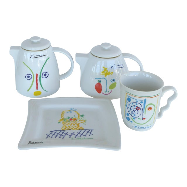 Italian Picasso Tea & Coffee Lunch Set For Sale