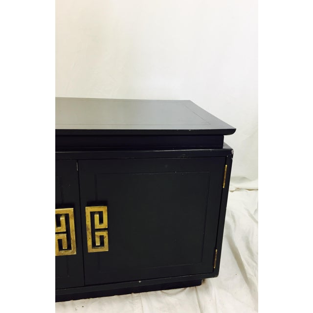 Black Vintage Ming Style Credenza For Sale - Image 8 of 10