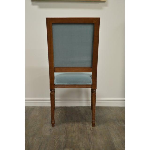Custom Order Louis XVI Style Square Back Dining Chair Upholstered in Kravet's Crypton Washable Velvet For Sale - Image 10 of 11
