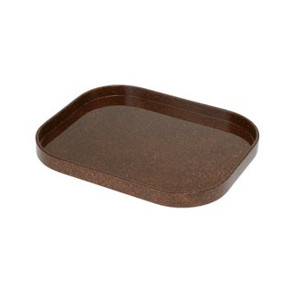 Miles Redd Collection Medium Stacking Tray in Porphyry For Sale