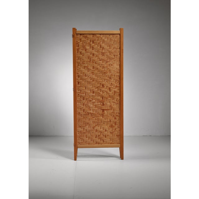 Pine folding screen, Sweden For Sale - Image 4 of 5