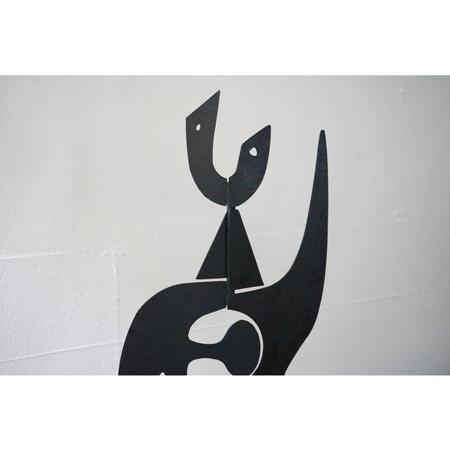 2010s Vintage Iron Sculpture Signed by French Artist Antonine De Saint Pierre For Sale - Image 5 of 8