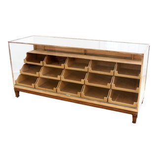 England Brass Framed Graduated Drawers Store Display Showcase Dresser