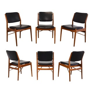 Arne Vodder for Sibast Møbler Teak Dining Chairs - Set of 6 For Sale