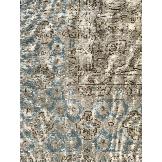 1920s 1920s Antique Turkish Distressed Rug- 6′1″ × 10′6″ For Sale - Image 5 of 12