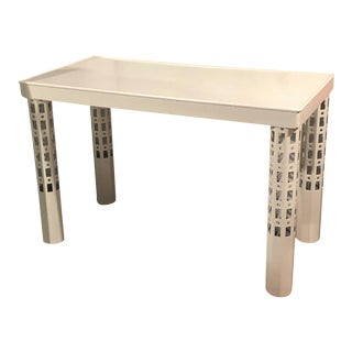 Austrian Secession White Lacquered Coffee Table For Sale
