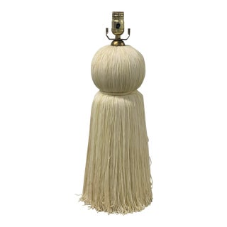 Off White Tassel Lamp For Sale