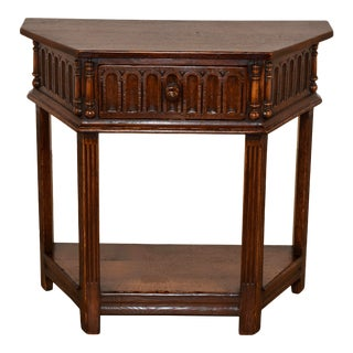 19th Century English Side Table With Single Drawer For Sale