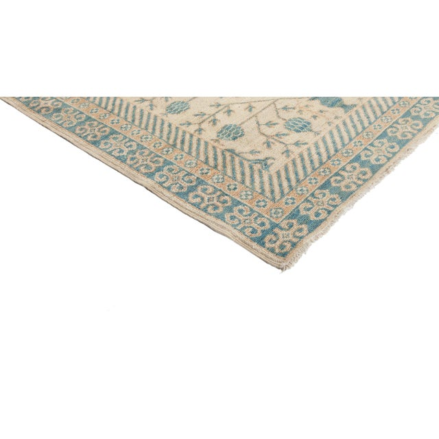 """New Hand-Knotted Khotan Rug - 5'4"""" X 6'10"""" - Image 2 of 3"""