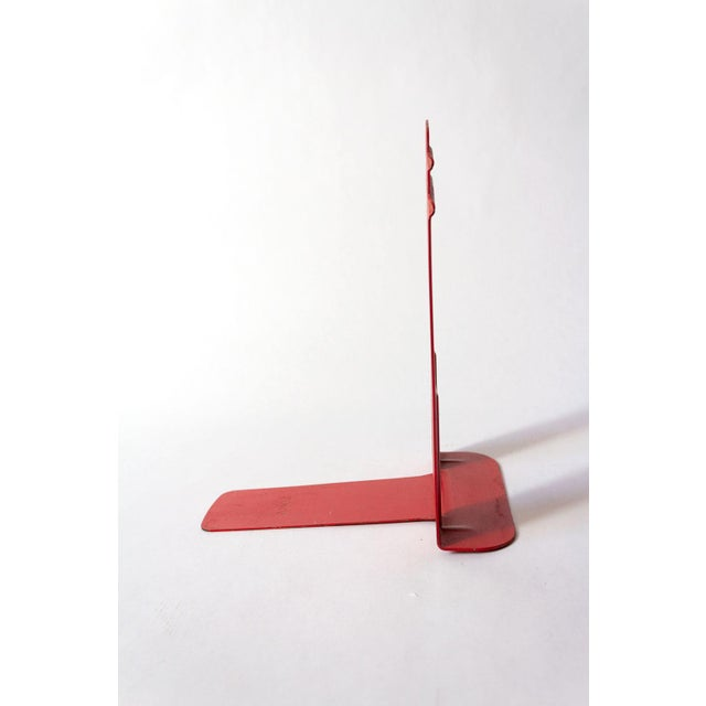 Mid 20th Century Vintage Red Library Bookends - a Pair For Sale - Image 5 of 9