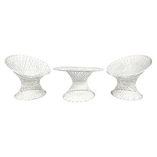 Russell Woodard Fiberglass Patio Lounge Set, 3 Pieces For Sale