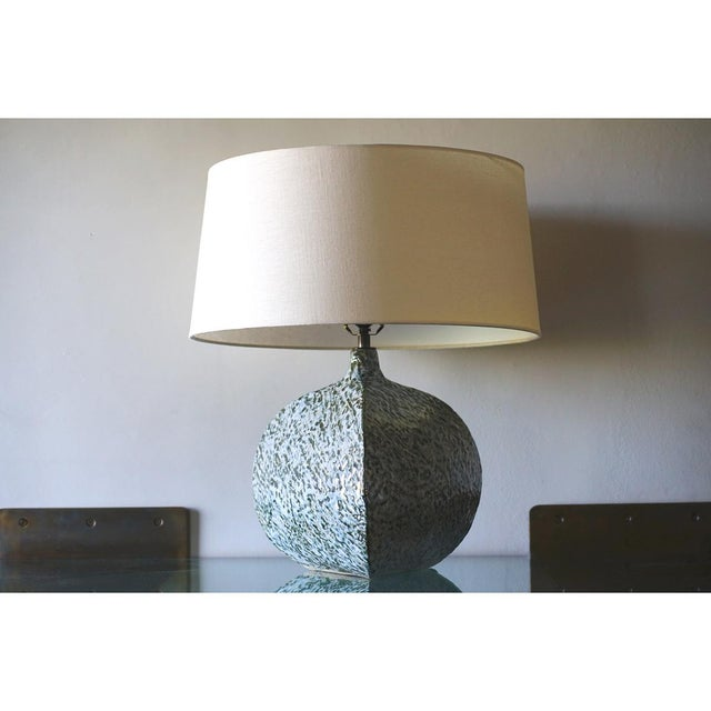 Belly Pot Table Lamp Stoneware clay Black and white glazes with India ink Price: 1950.00 NIC shade As of this posting...