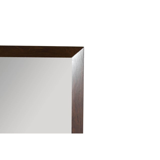 Mid-Century Modern Large-Scale Walnut Mirror by t.h. Robsjohn-Gibbings For Sale - Image 3 of 8