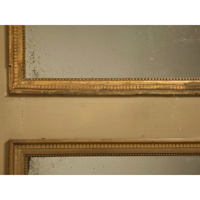 Brown Circa 1880 French Painted Trumeau Mirror For Sale - Image 8 of 12