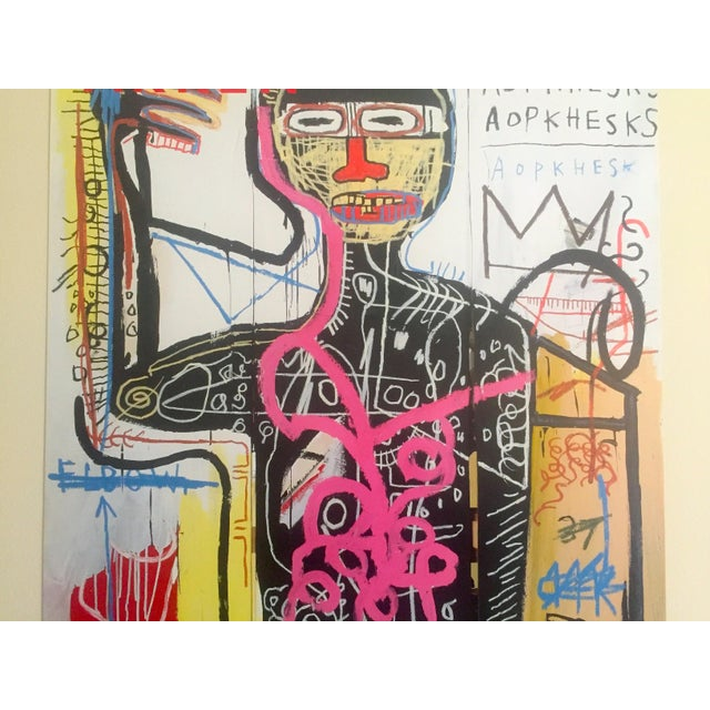 Jean Michel Basquiat Andy Warhol & Jean Michel Basquiat Rare Limited Edition Original Offset Lithograph Print Poster For Sale - Image 4 of 11