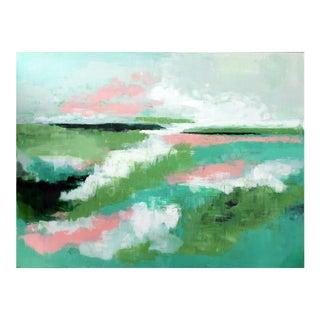 "Abstract ""Green Abandon"" Acrylic Painting"