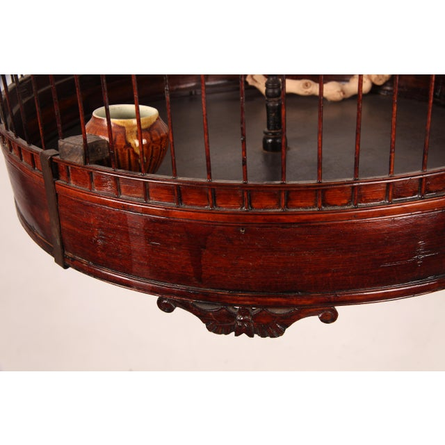 Early 20th Century Chinese Bamboo Cage For Sale - Image 4 of 8