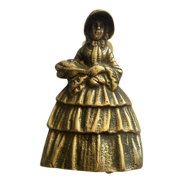 Southern Women Brass Door Knocker For Sale