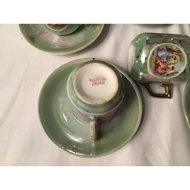 Vintage Hand Painted Angelica Kauffmann Style Tea Service - Set of 14 For Sale - Image 10 of 11