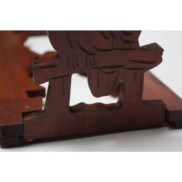 Mid-20th Century Carved Owl Pop-Up Bookrack / Bookends For Sale - Image 10 of 12