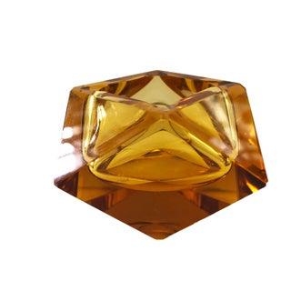 Czech Art Glass Amber Bowl Preview