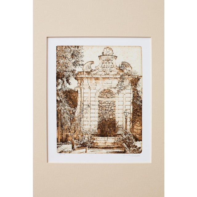 Set of Twelve Architectural Landscape Etchings by Kenneth Gregg For Sale - Image 10 of 13