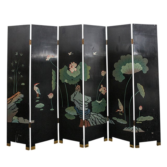 Mid 20th Century Chinese Folding Screen - Image 4 of 6