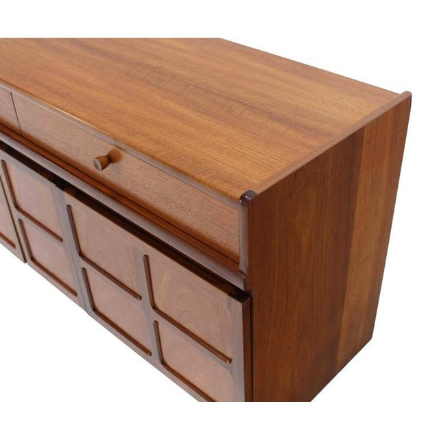 Small Danish Modern Teak Credenza with Small File Cabinet For Sale In New York - Image 6 of 8
